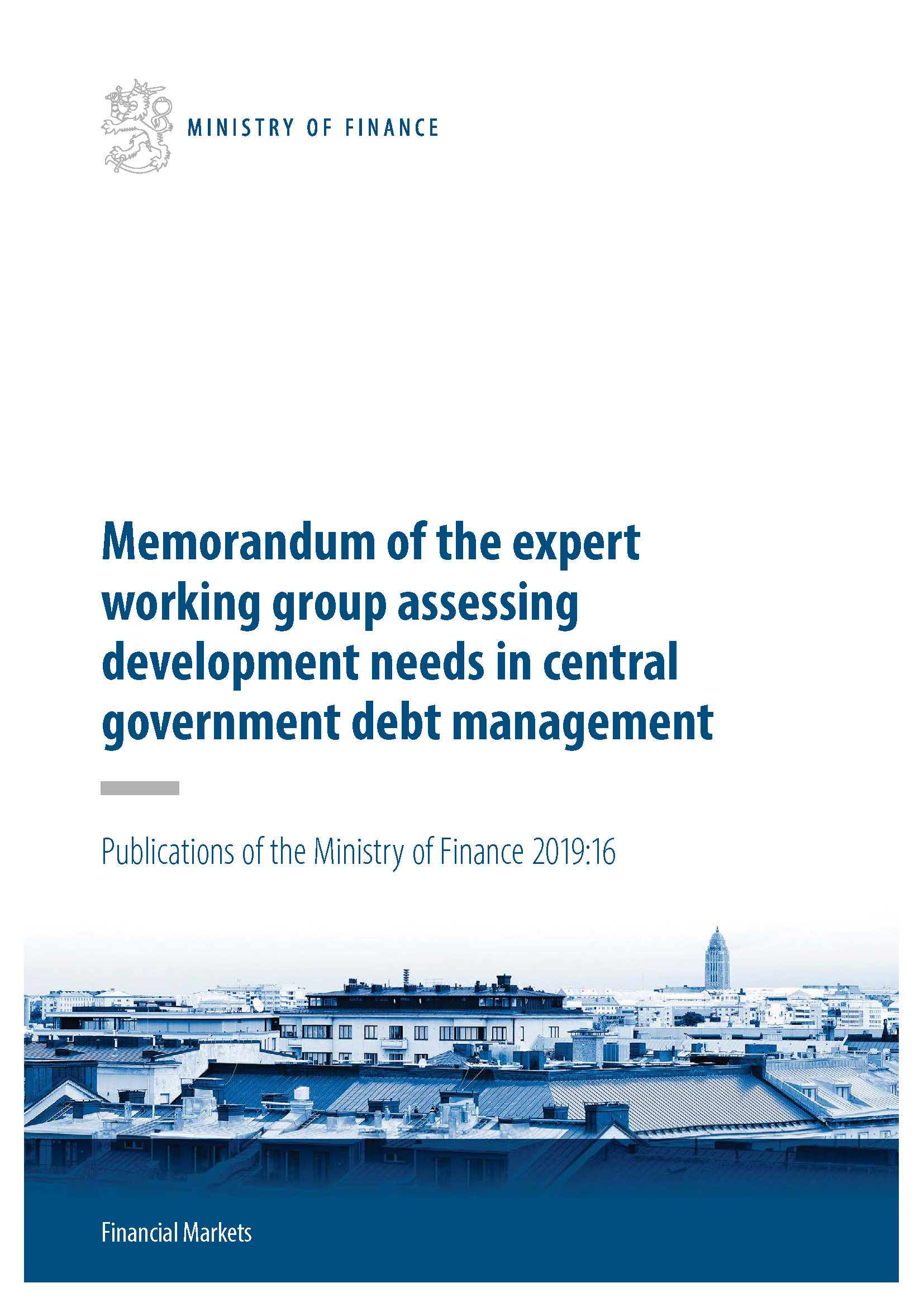 Memorandum of the expert working group assessing development needs in central government debt management