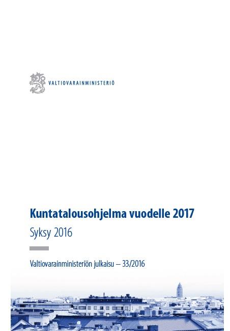 Kuntatalousohjelma 2017, syksy 2016