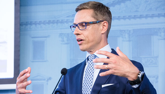 Minister Stubb to World Economic Forum in Davos